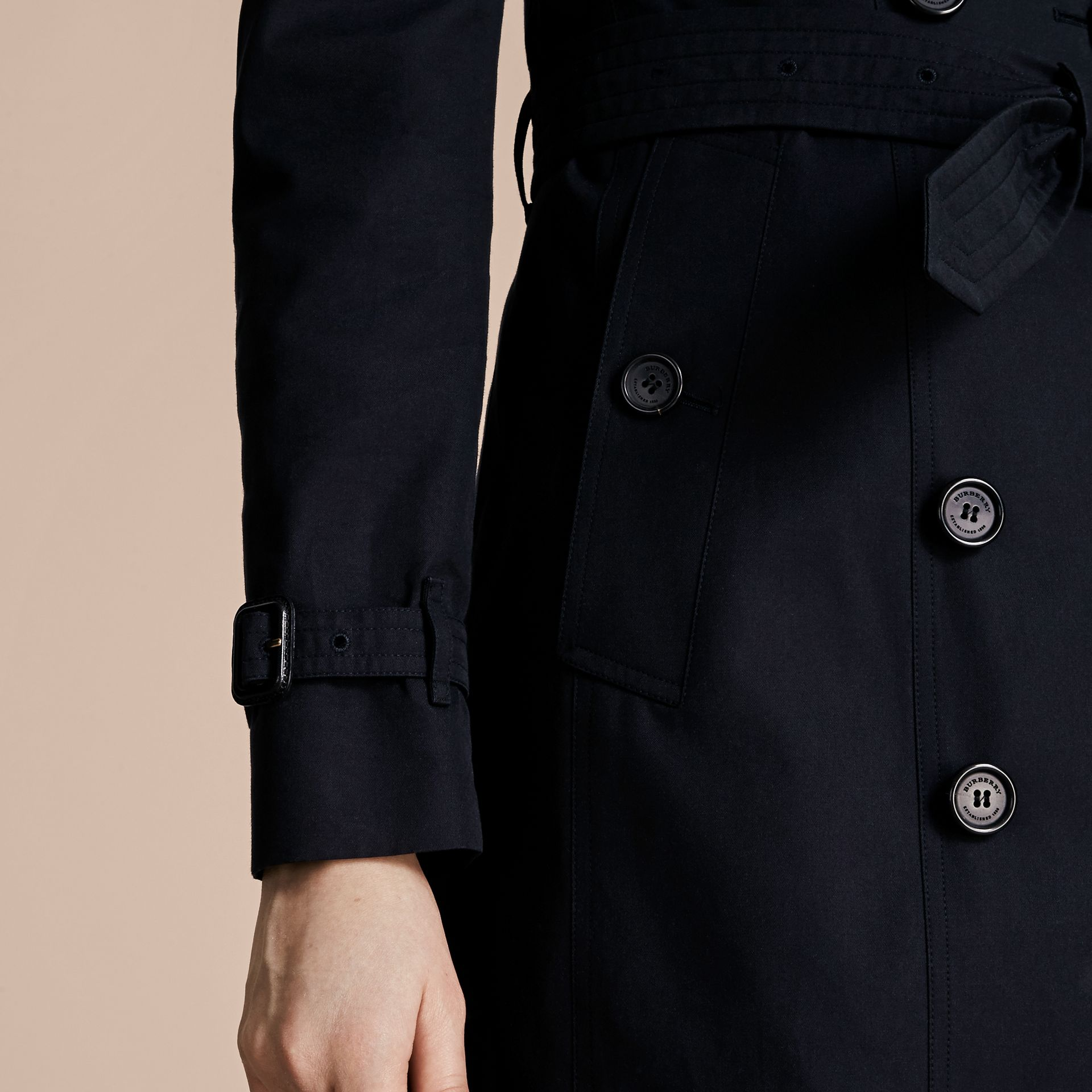 Navy The Sandringham – Mid-length Heritage Trench Coat Navy - gallery image 7