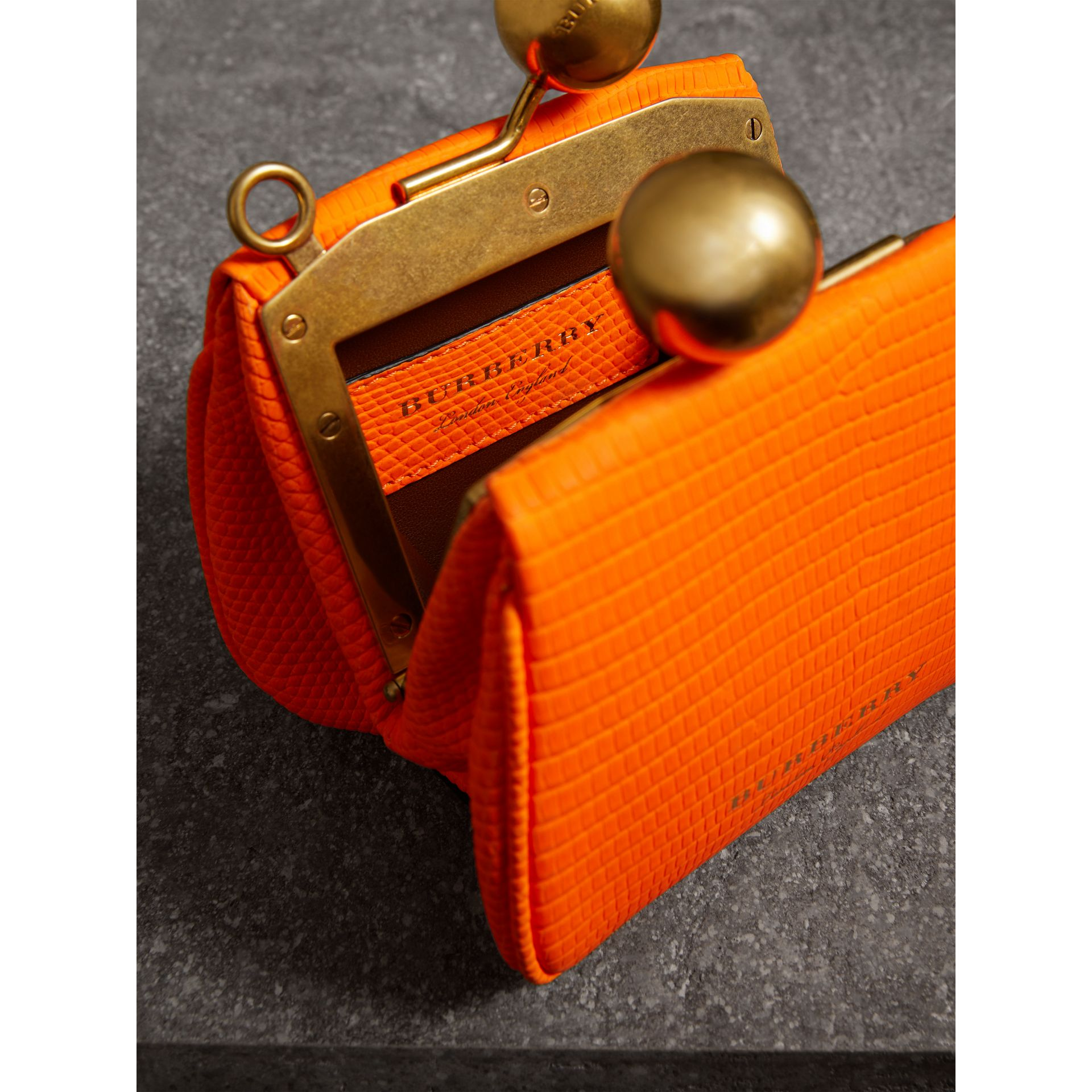 Mini Lizard Frame Bag in Neon Orange - Women | Burberry - gallery image 3