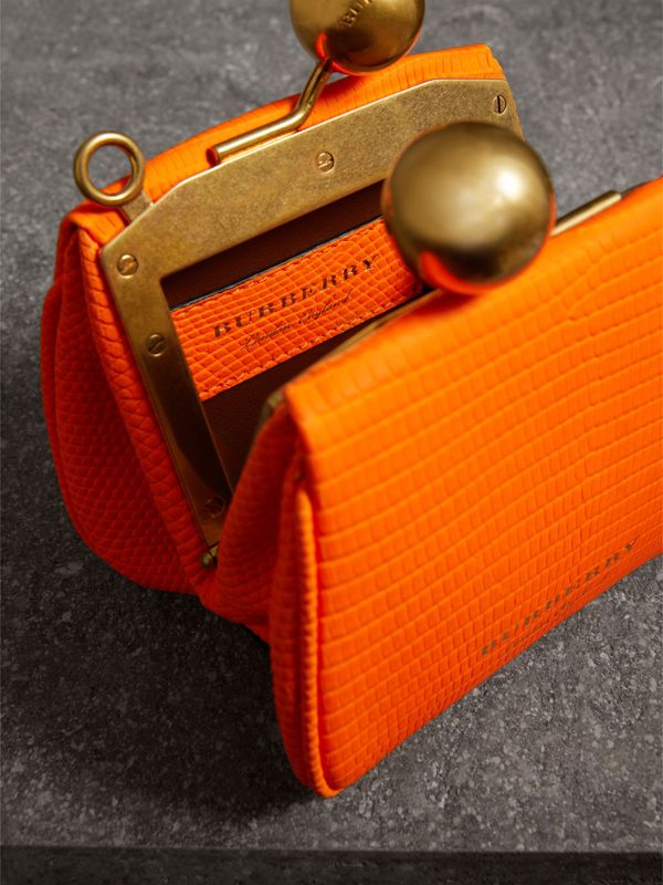 Mini Lizard Frame Bag in Neon Orange - Women | Burberry - cell image 3