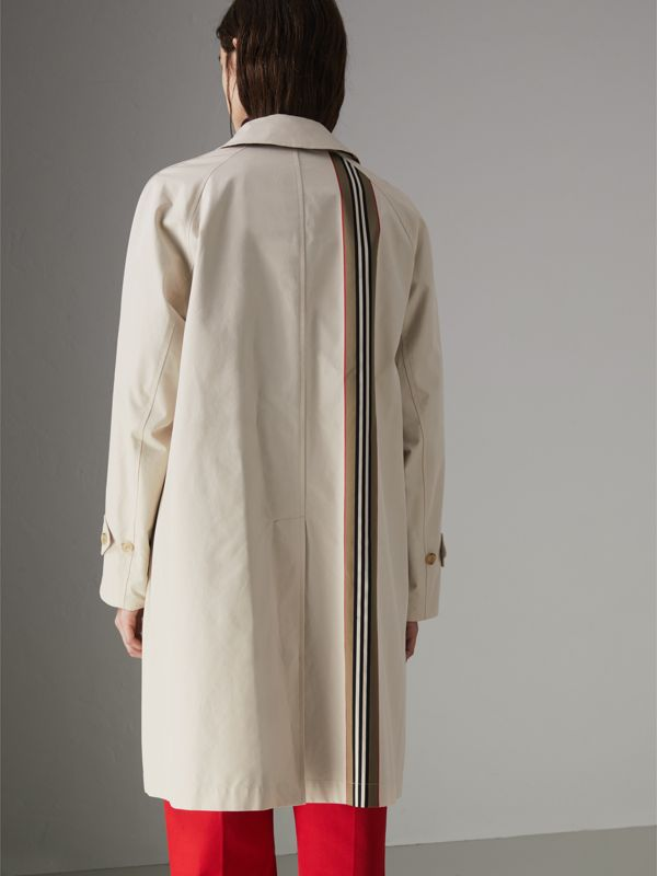 Striped Ribbon Cotton Gabardine Car Coat in Stone - Women | Burberry Singapore - cell image 2