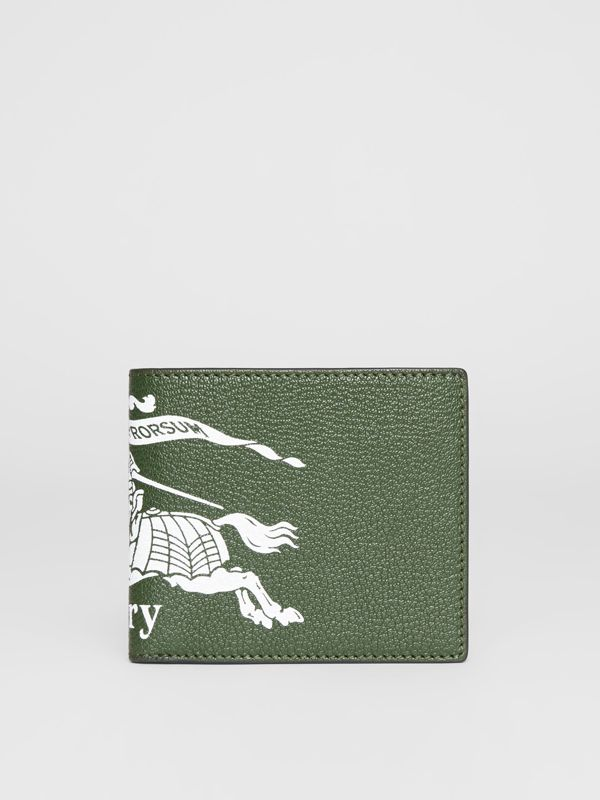 Contrast Logo Leather International Bifold Wallet in Storm Blue - Men | Burberry United Kingdom - cell image 2