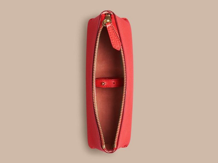 Rouge orangé Petite pochette pour accessoires numériques en cuir grainé Rouge Orangé - cell image 1