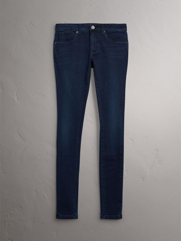 Jeans skinny in denim stretch ultraresistente (Indaco Scuro) - Donna | Burberry - cell image 3