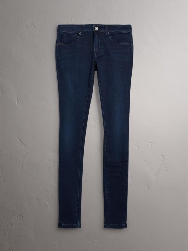 Skinny Fit Power-stretch Denim Jeans in Dark Indigo - Women | Burberry United Kingdom - cell image 3
