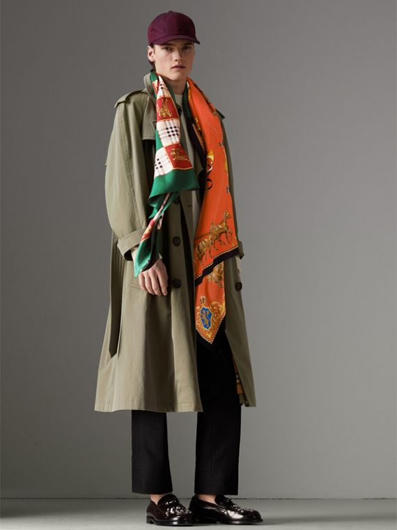 Archive Scarf Print Silk Scarf in Multicolour - Women | Burberry United Kingdom - cell image 3