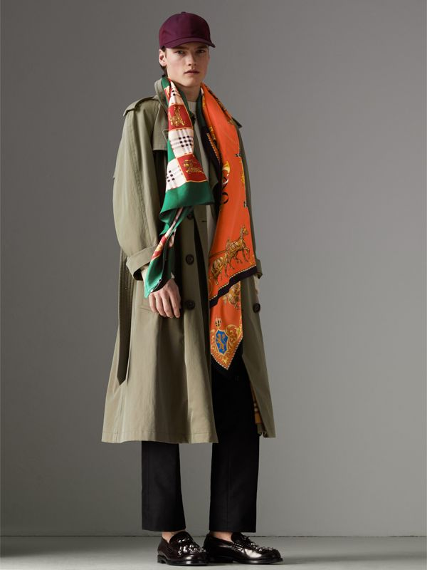 Archive Scarf Print Silk Scarf in Multicolour - Women | Burberry - cell image 3