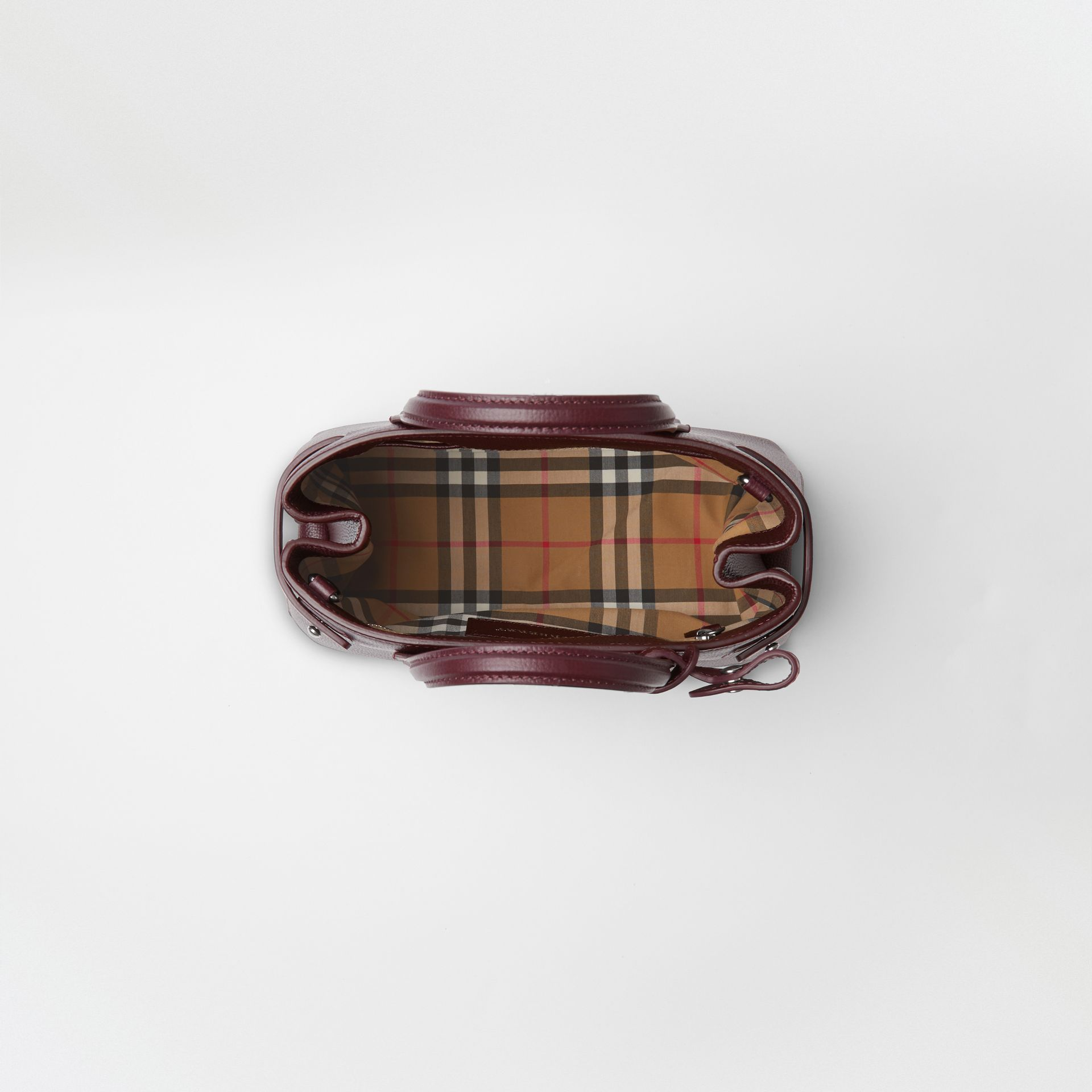 The Small Banner in Leather and Vintage Check in Mahogany Red - Women | Burberry - gallery image 3