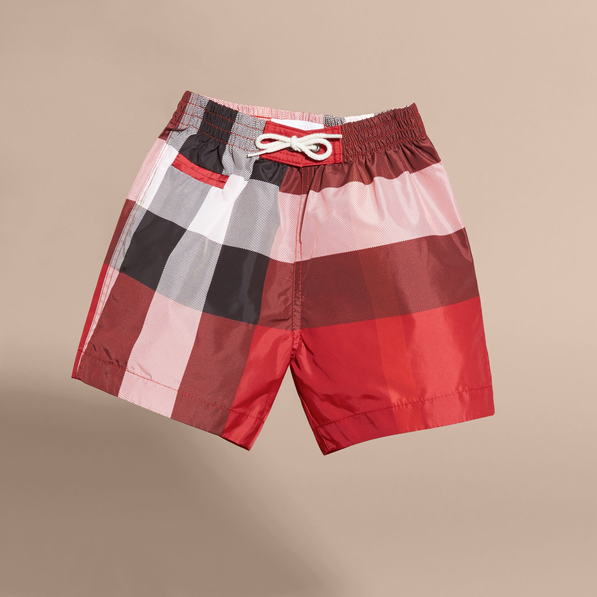 Check Swim Shorts in Parade Red | Burberry Hong Kong - gallery image 3