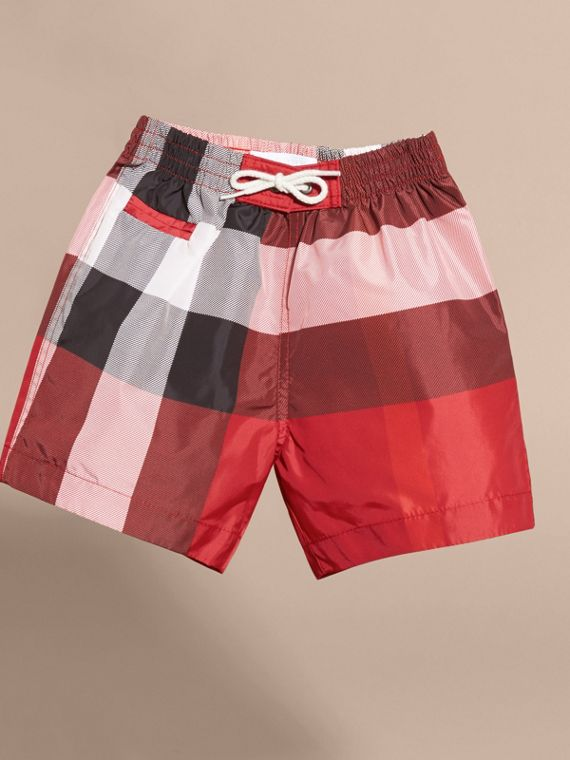Check Swim Shorts in Parade Red | Burberry - cell image 2