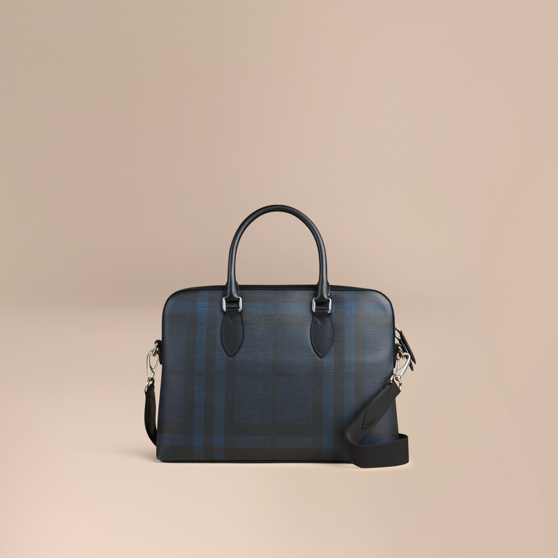 The Barrow in London Check in Navy/black - Men | Burberry United Kingdom - gallery image 0