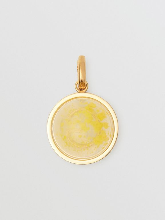 Marbled Resin 'G' Alphabet Charm in Gold/mimosa - Women | Burberry - cell image 1