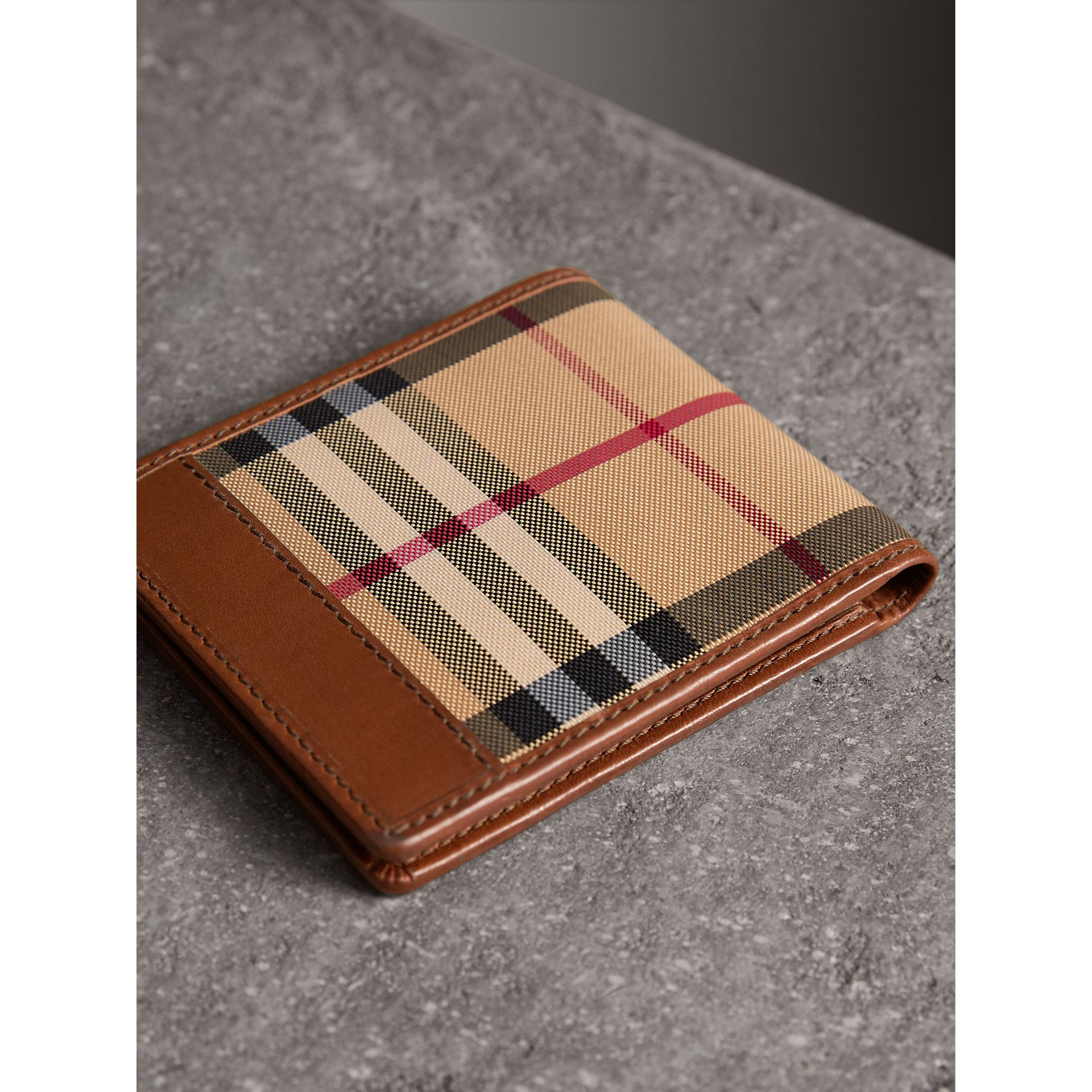 Horseferry Check ID Wallet in Tan - Men | Burberry Australia - gallery image 3