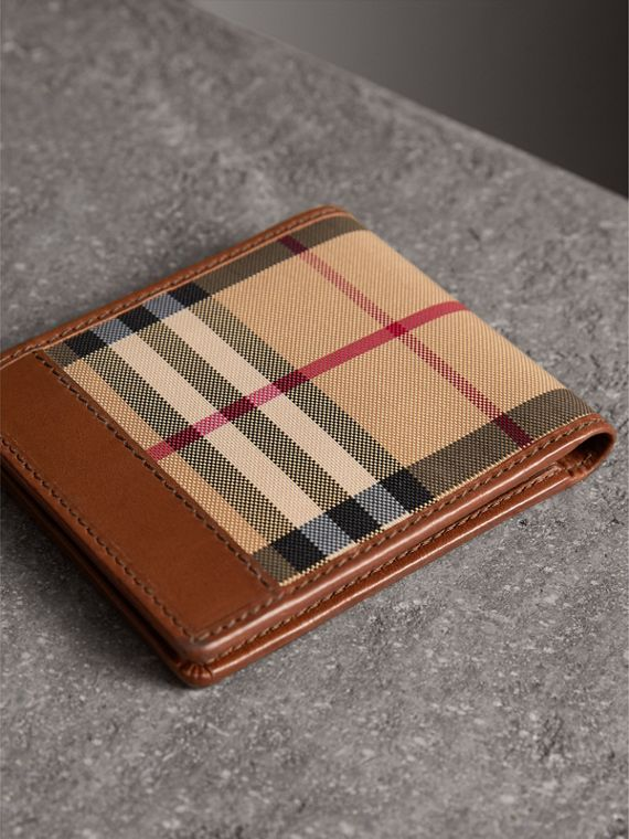 Horseferry Check ID Wallet in Tan - Men | Burberry Australia - cell image 2