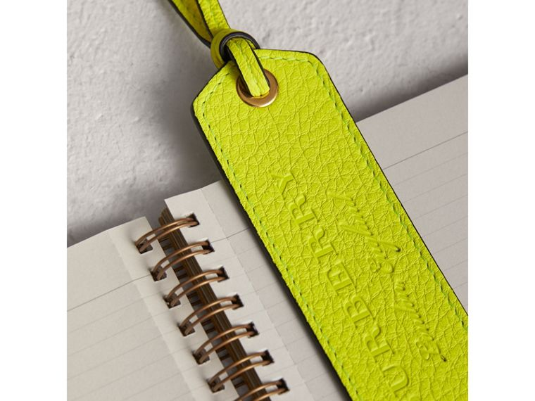 Embossed Leather Bookmark in Bright Yellow | Burberry Australia - cell image 1