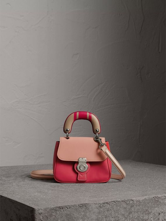 The Mini DK88 Top Handle Bag with Geometric Print in Russet/ash Rose