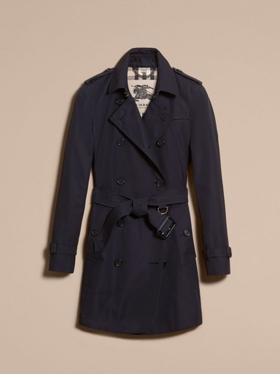 Navy The Kensington – Mid-Length Heritage Trench Coat Navy - cell image 3