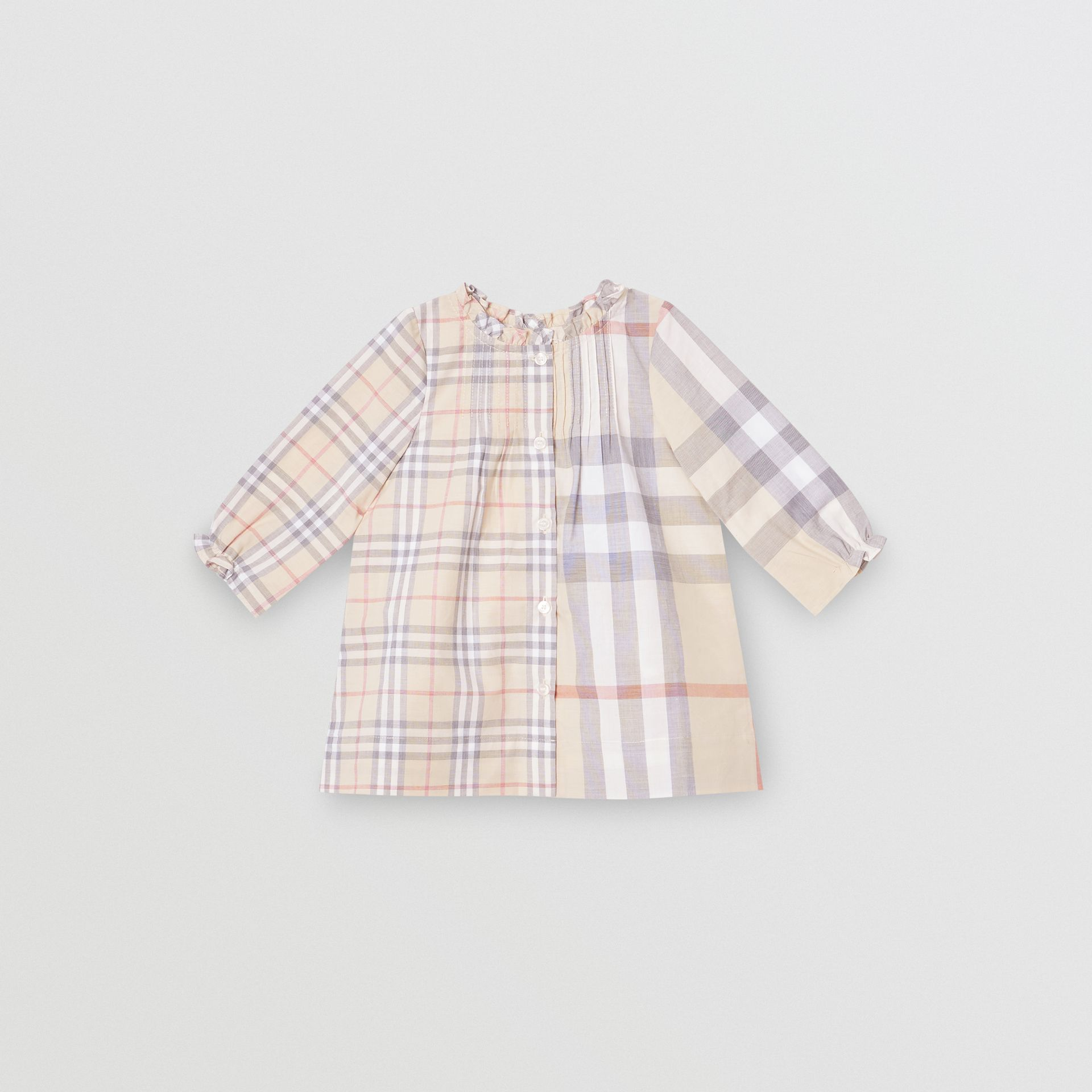 Robe et bloomer en coton check (Stone Pâle) - Enfant | Burberry - photo de la galerie 2