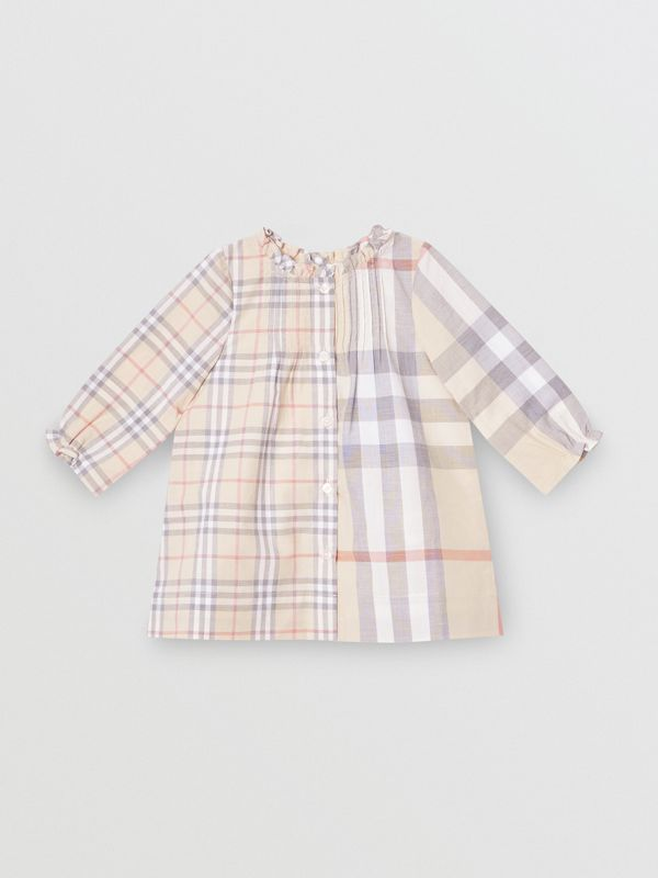 Robe et bloomer en coton check (Stone Pâle) - Enfant | Burberry - cell image 2