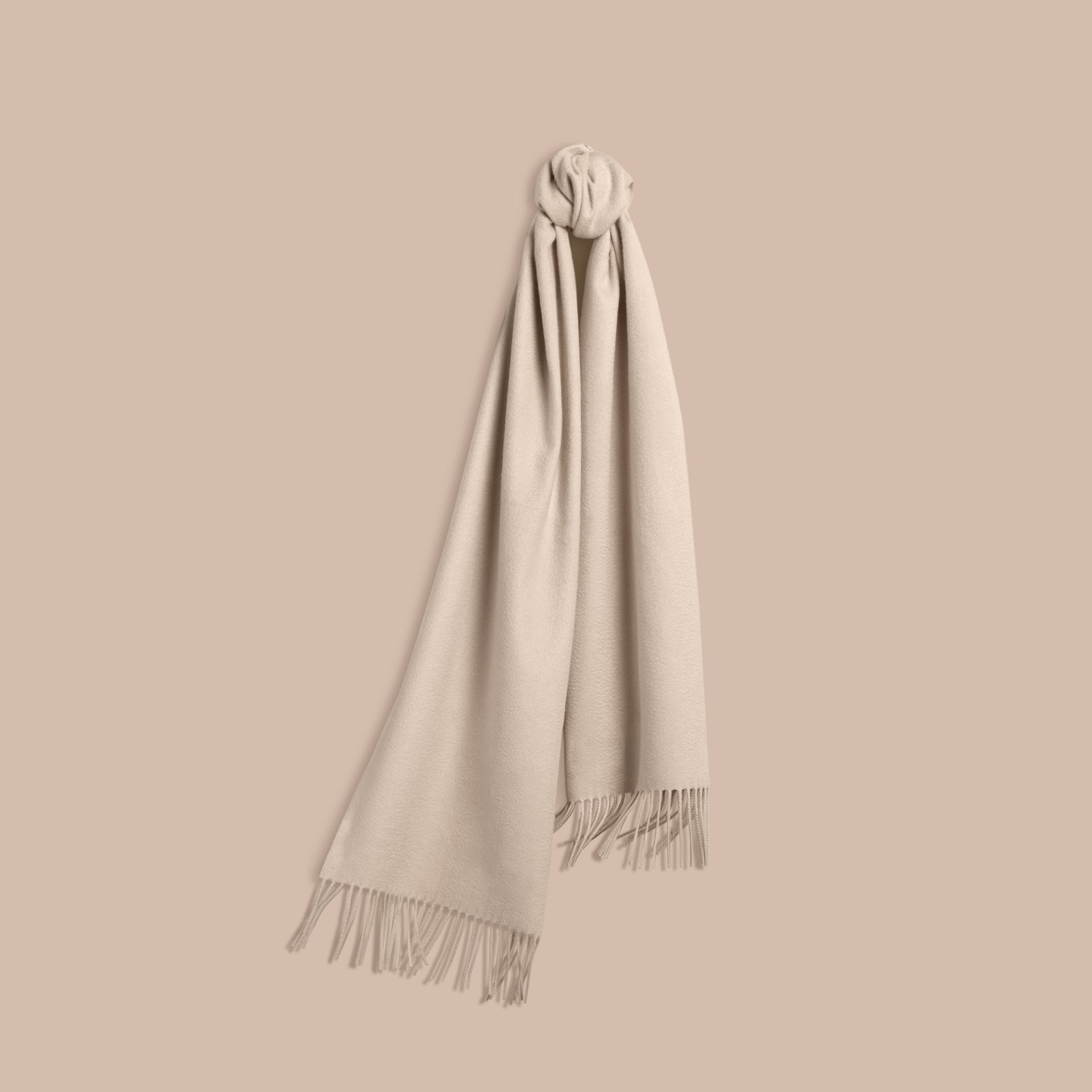 The Classic Cashmere Scarf in Stone | Burberry Canada - gallery image 6