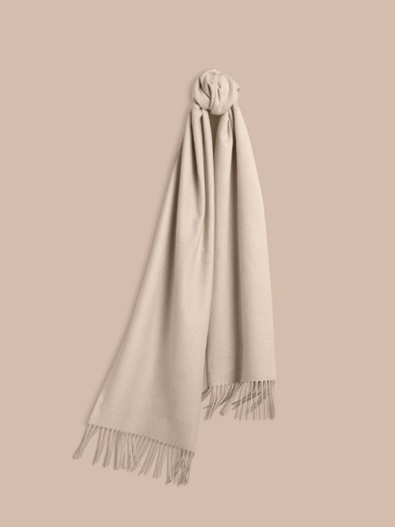 The Classic Cashmere Scarf in Stone | Burberry
