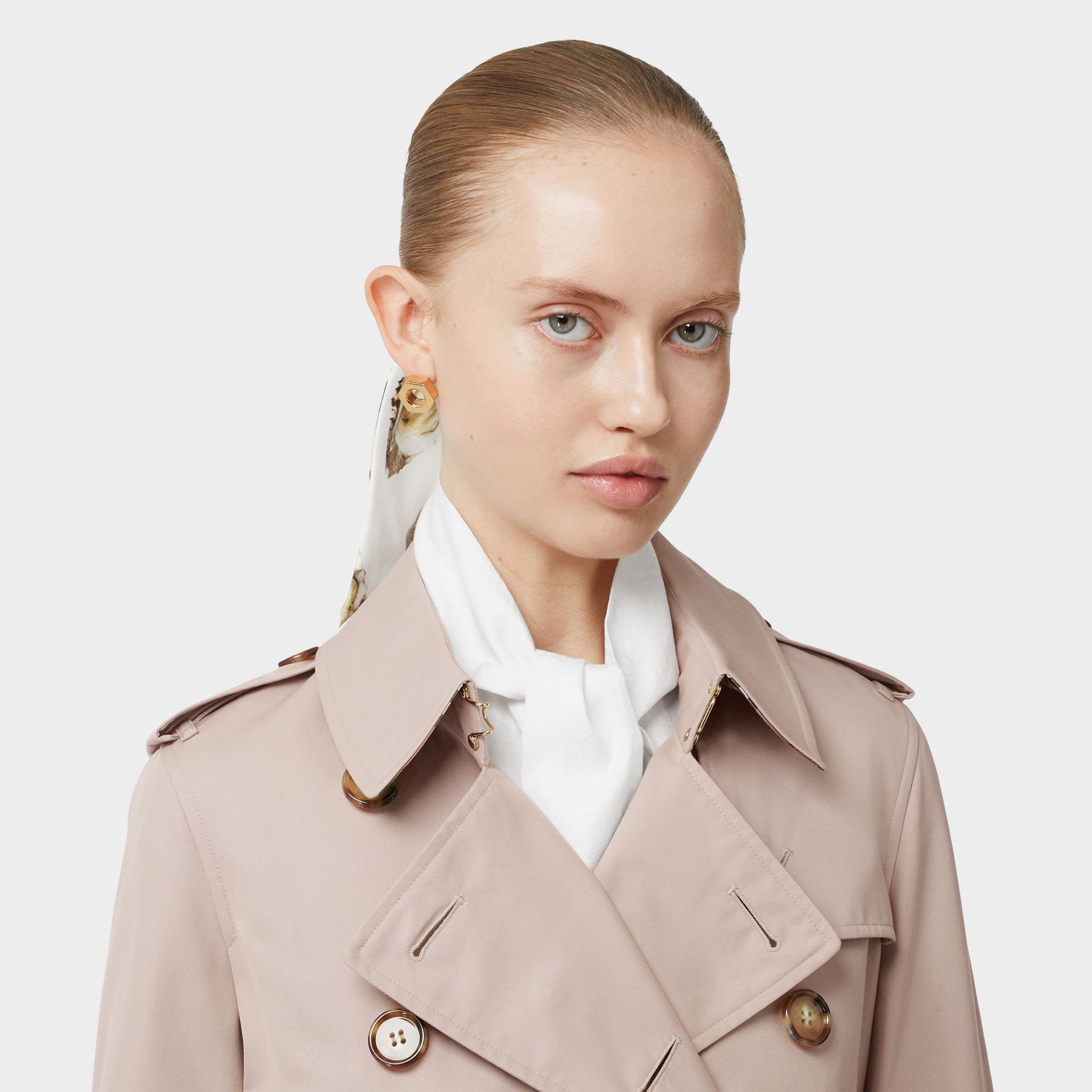Cotton Gabardine Trench Coat in Pale Blush - Women | Burberry - gallery image 5
