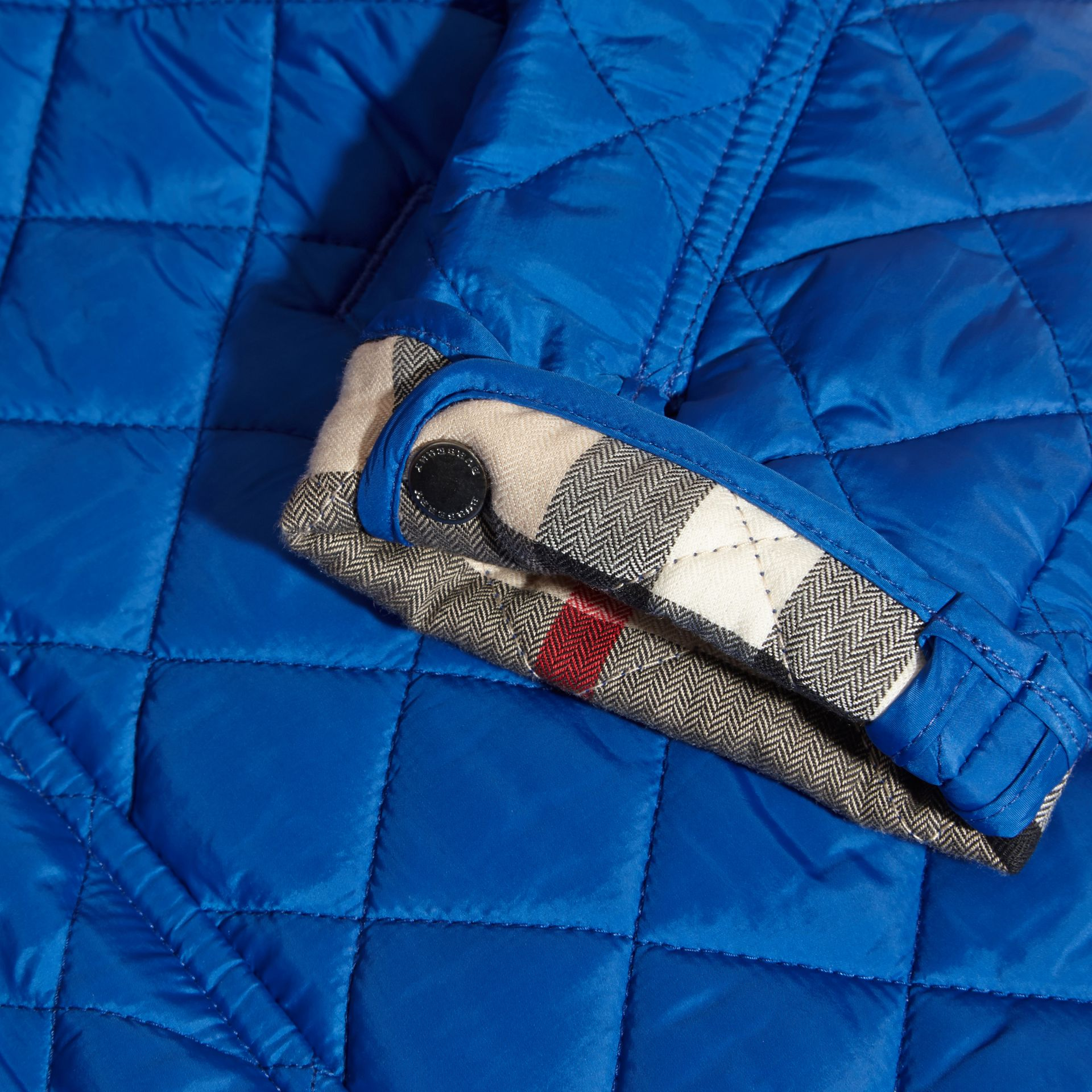 Diamond Quilted Jacket in Brilliant Blue - gallery image 2