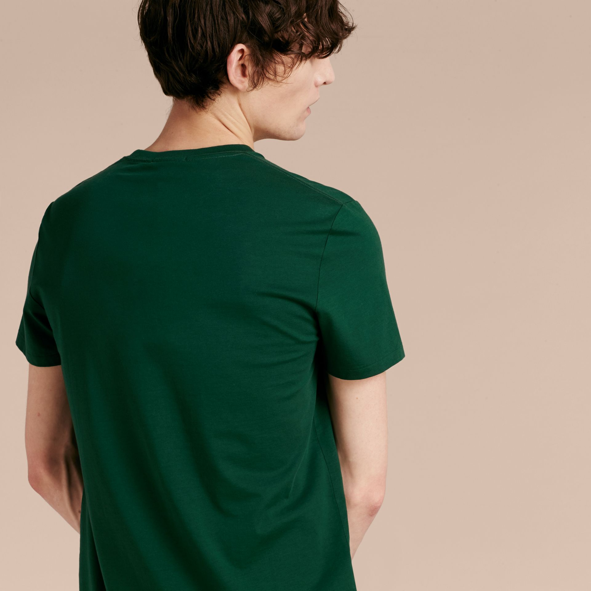 Racing green Liquid-soft Cotton T-Shirt Racing Green - gallery image 3