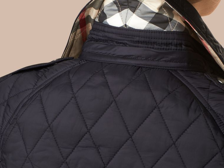 Ink Diamond Quilted Coat Ink - cell image 1