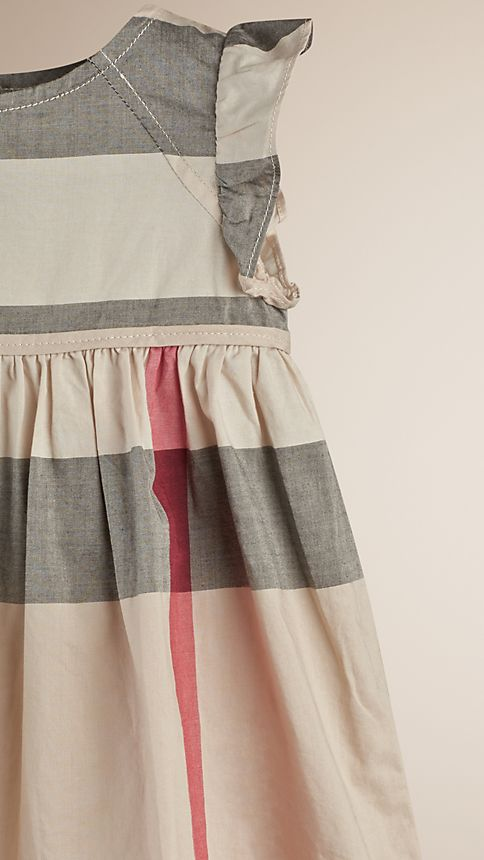 New classic check Flutter Sleeve Check Dress - Image 3