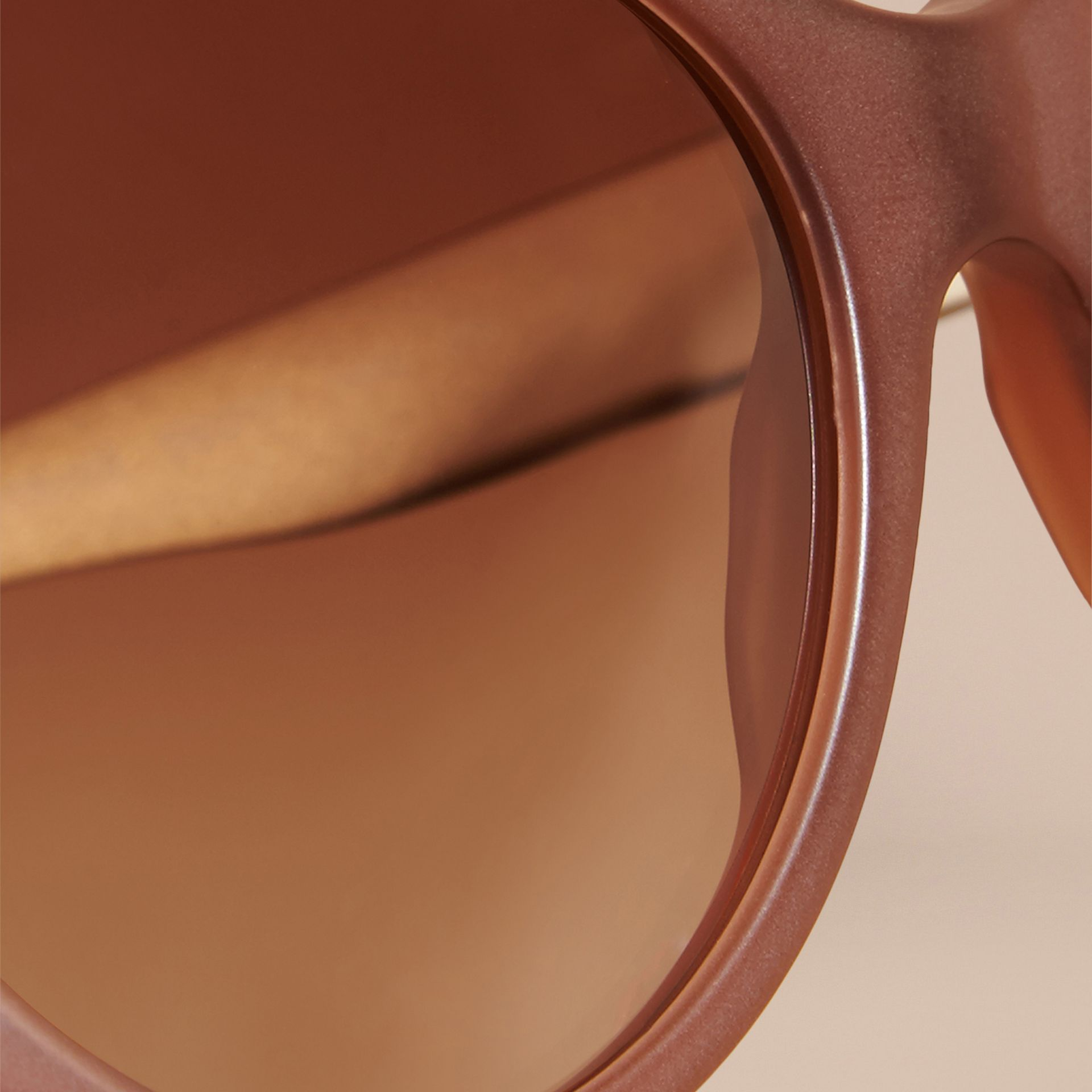 Taupe brown 3D Check Cat-eye Sunglasses Taupe Brown - gallery image 5