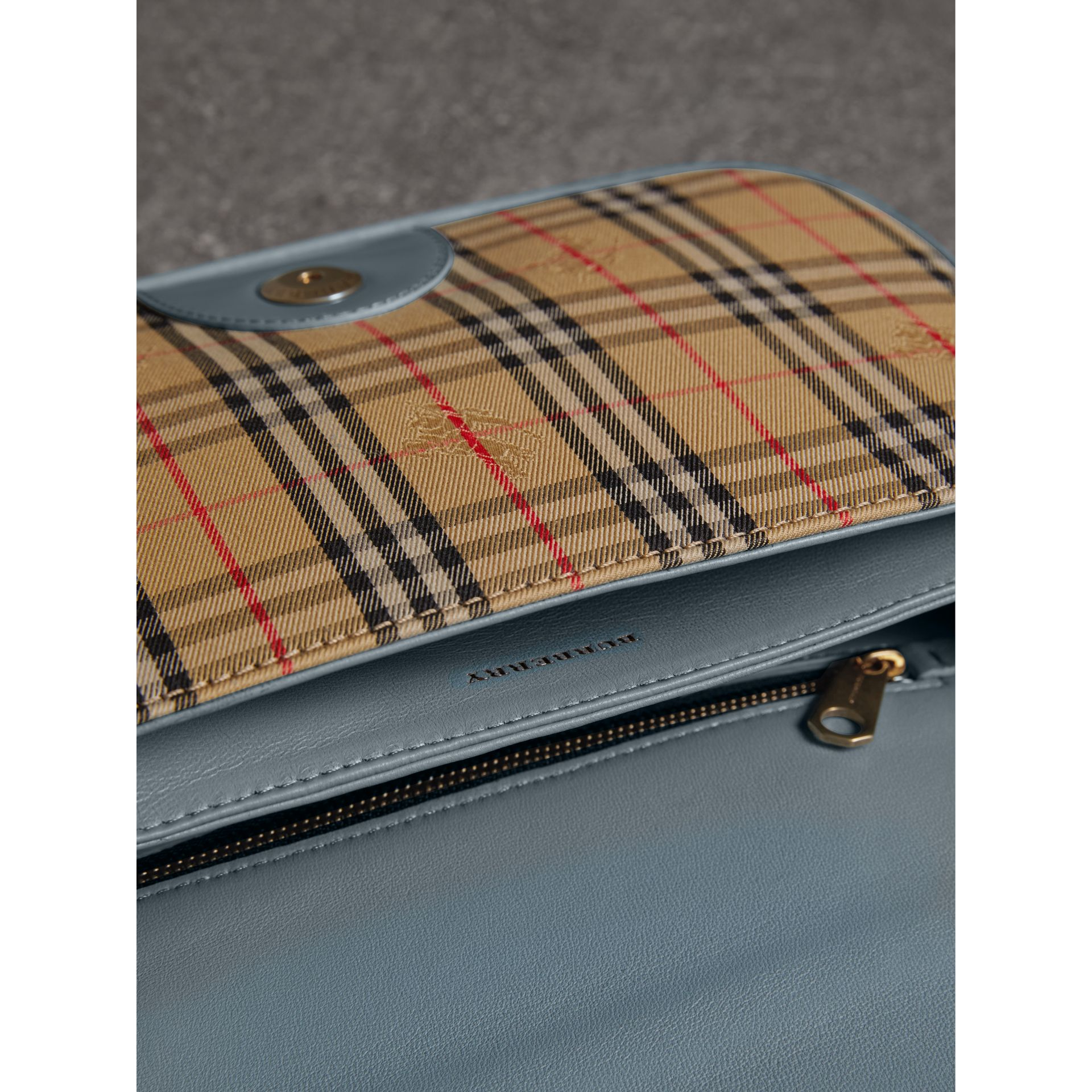The 1983 Check Link Bag with Patent Trim in Blue Sage - Women | Burberry Singapore - gallery image 5
