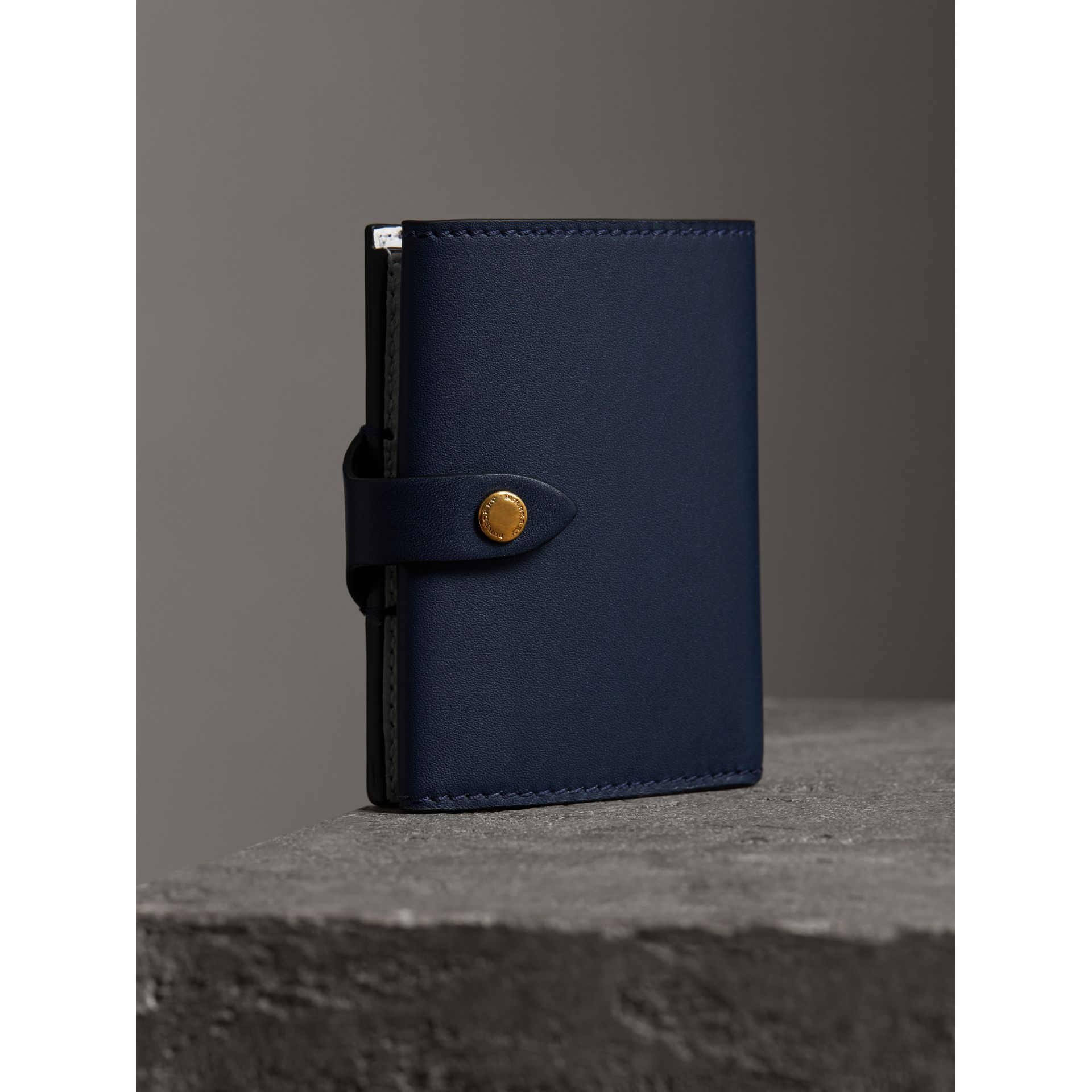 Equestrian Shield Leather Continental Wallet in Mid Indigo - Women | Burberry United Kingdom - gallery image 2
