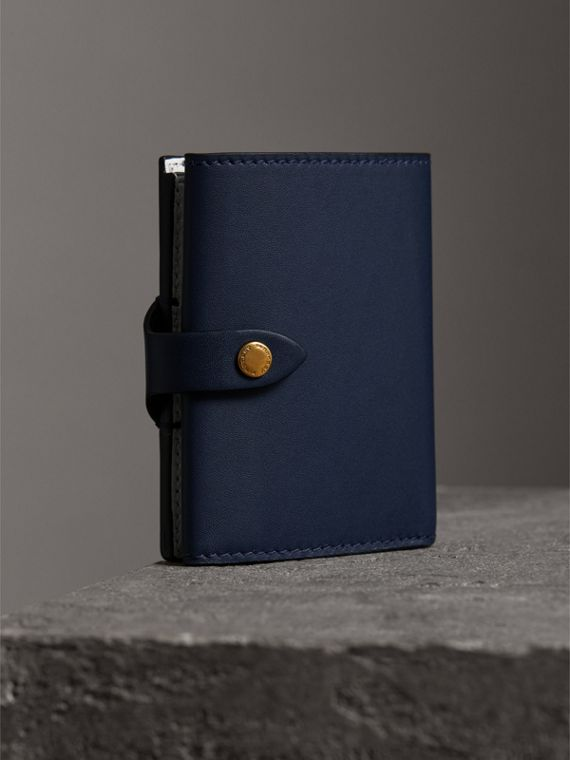 Equestrian Shield Leather Continental Wallet in Mid Indigo - Women | Burberry United Kingdom - cell image 2