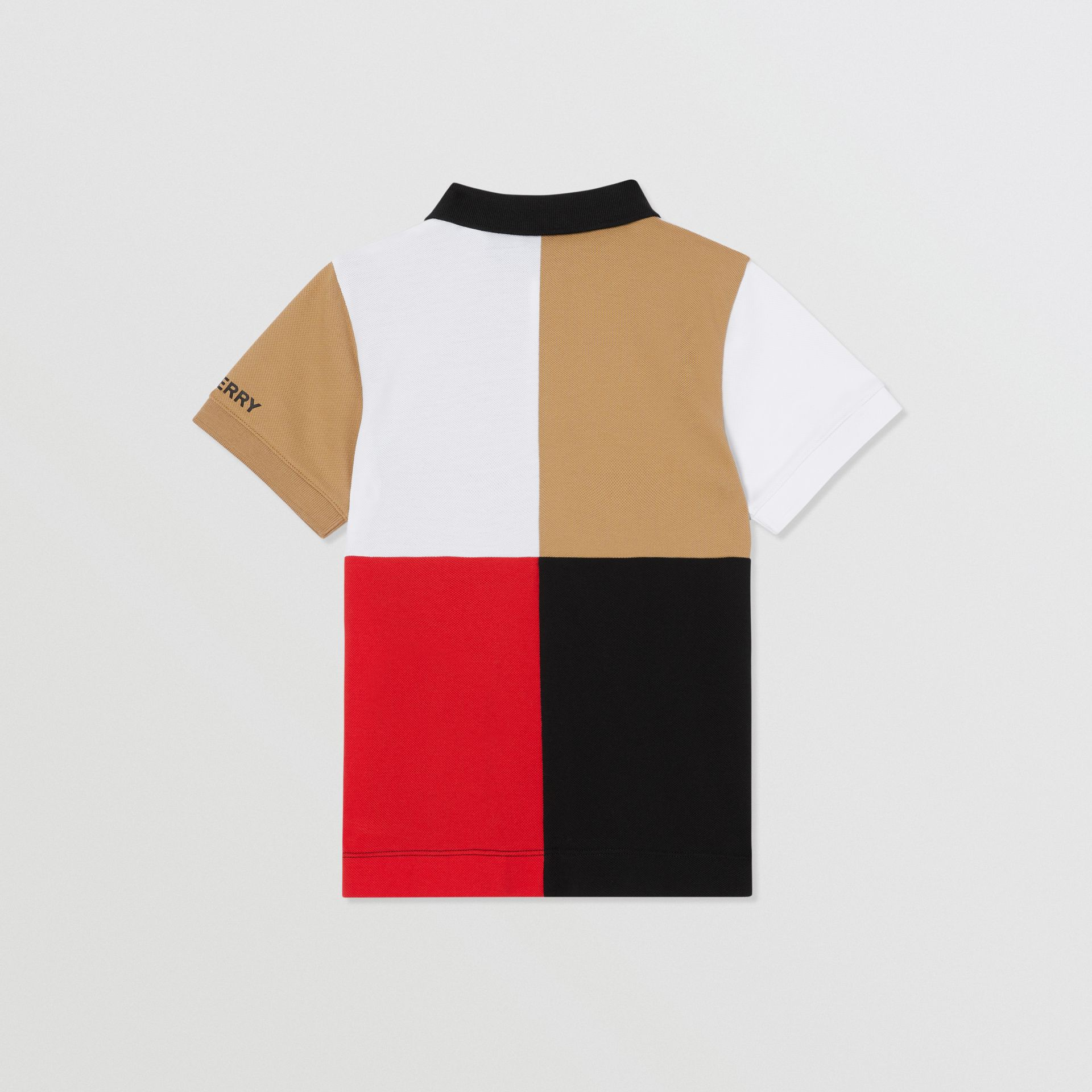 Polo color-block en coton (Beige D'archive) | Burberry Canada - photo de la galerie 3