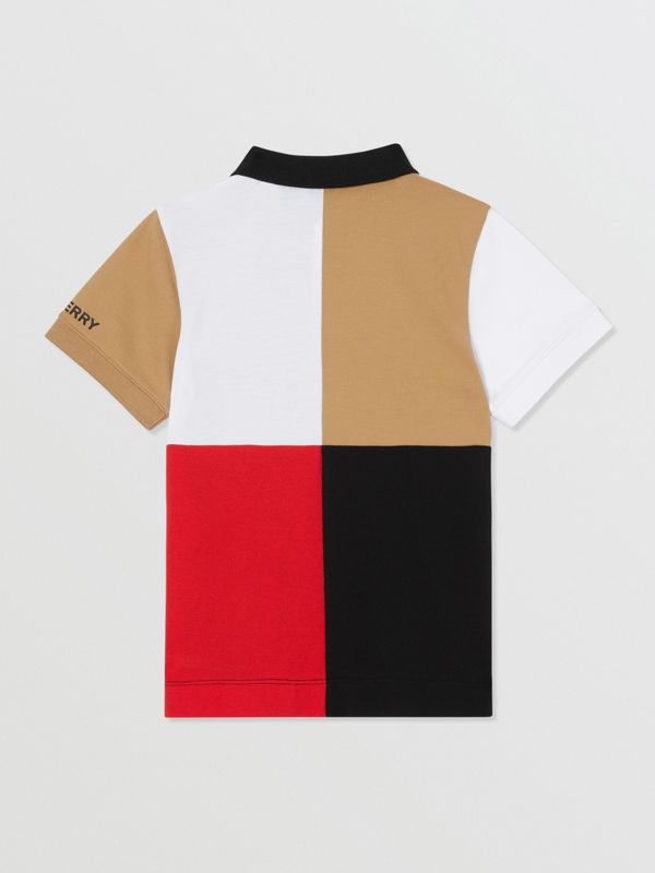 Polo color-block en coton (Beige D'archive) | Burberry Canada - cell image 3