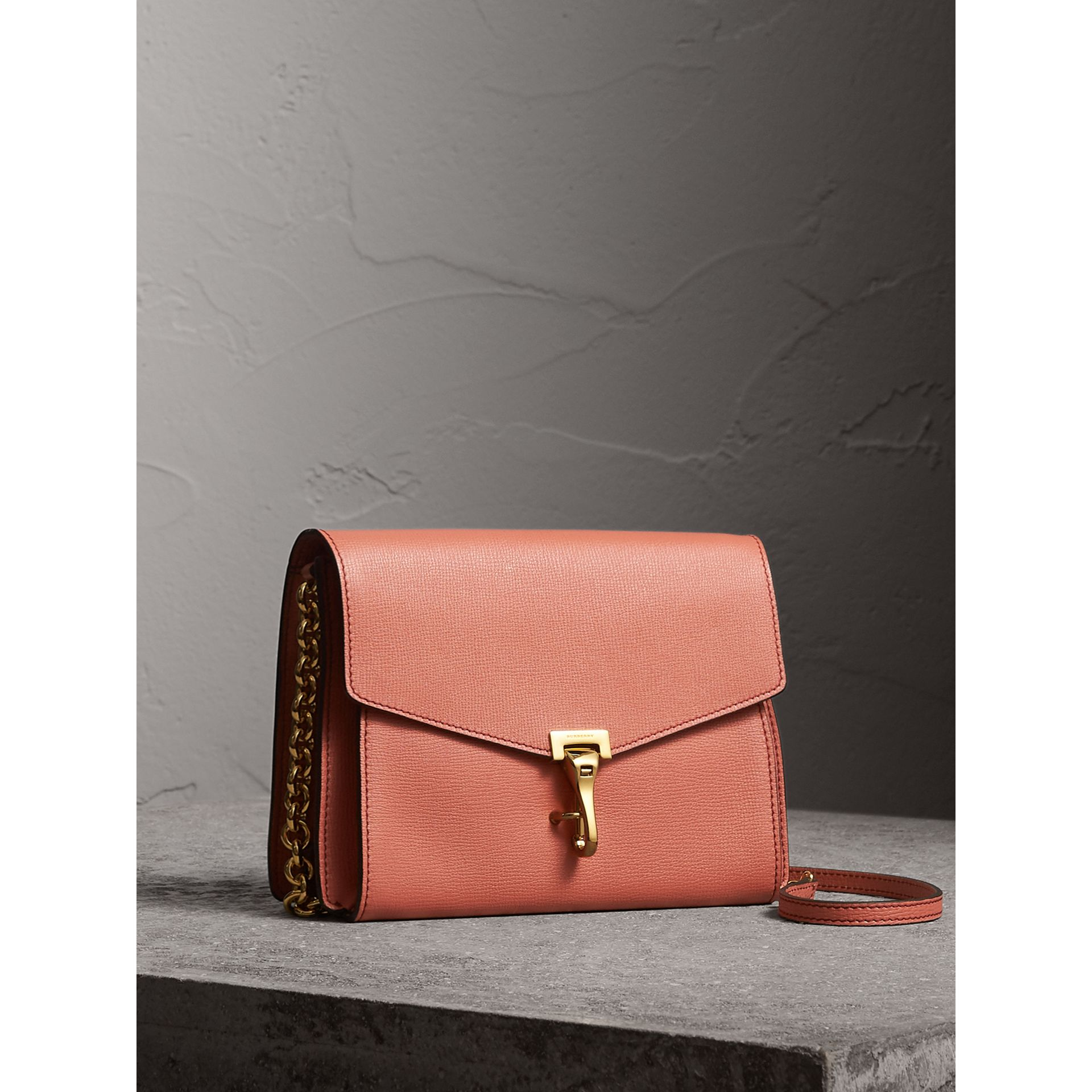 Small Leather Crossbody Bag in Cinnamon Red - Women | Burberry - gallery image 7