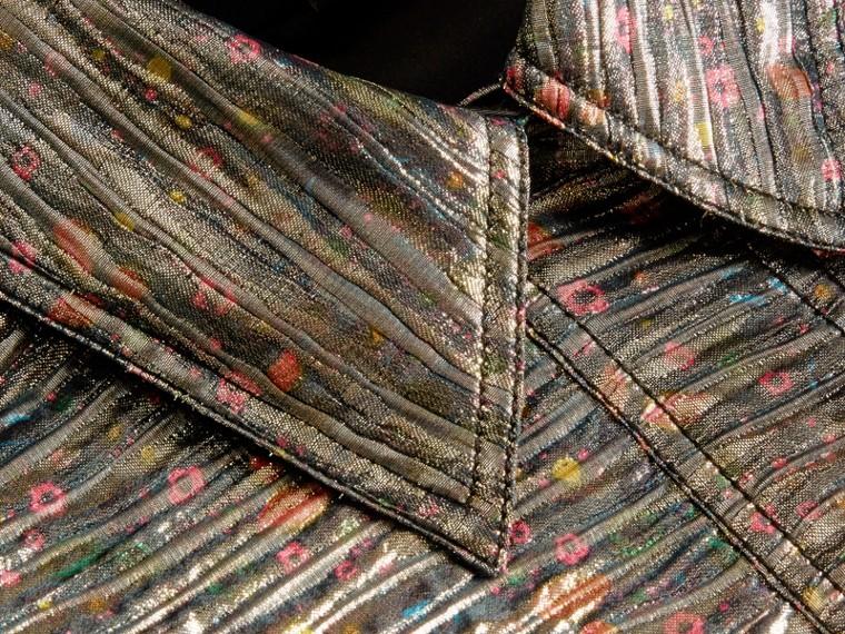 Gris brume Robe chemise à motif métallisé tissé en jacquard - cell image 1