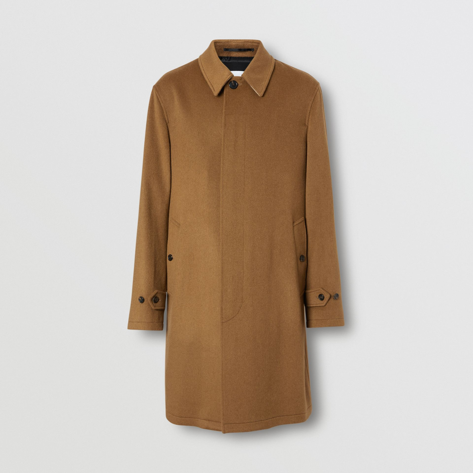 Cashmere Car Coat in Dark Camel - Men | Burberry - gallery image 3