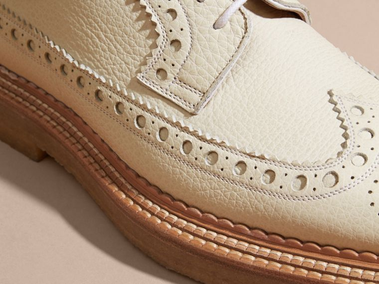Leather Wingtip Brogues Off White - cell image 1
