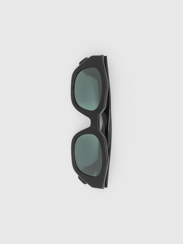 Geometric Frame Sunglasses in Black | Burberry - cell image 3