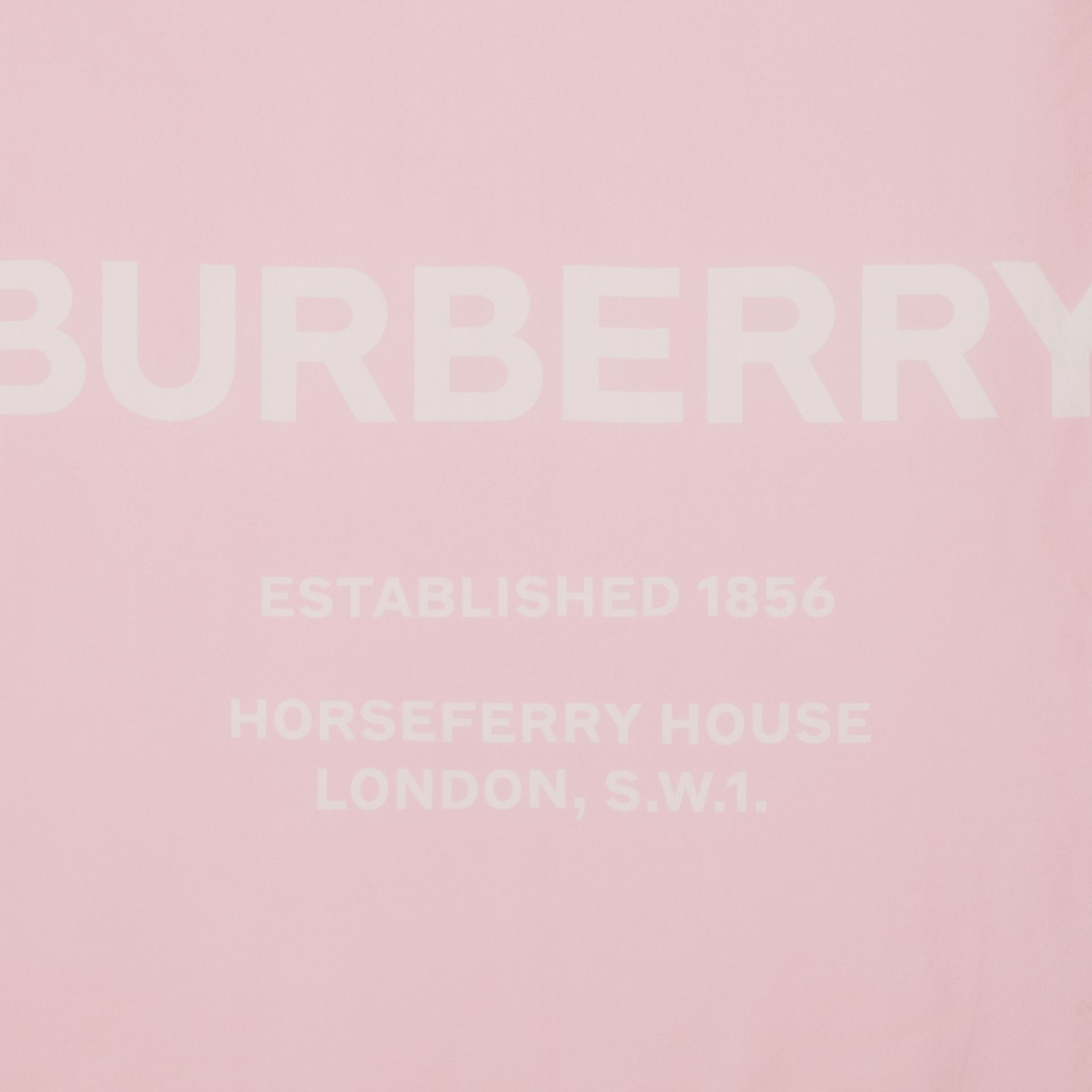 Horseferry Print Silk Square Scarf in Pink | Burberry United States - gallery image 1