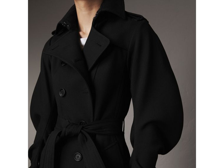 Wool Sculptural Trench Coat in Black - Women | Burberry - cell image 1