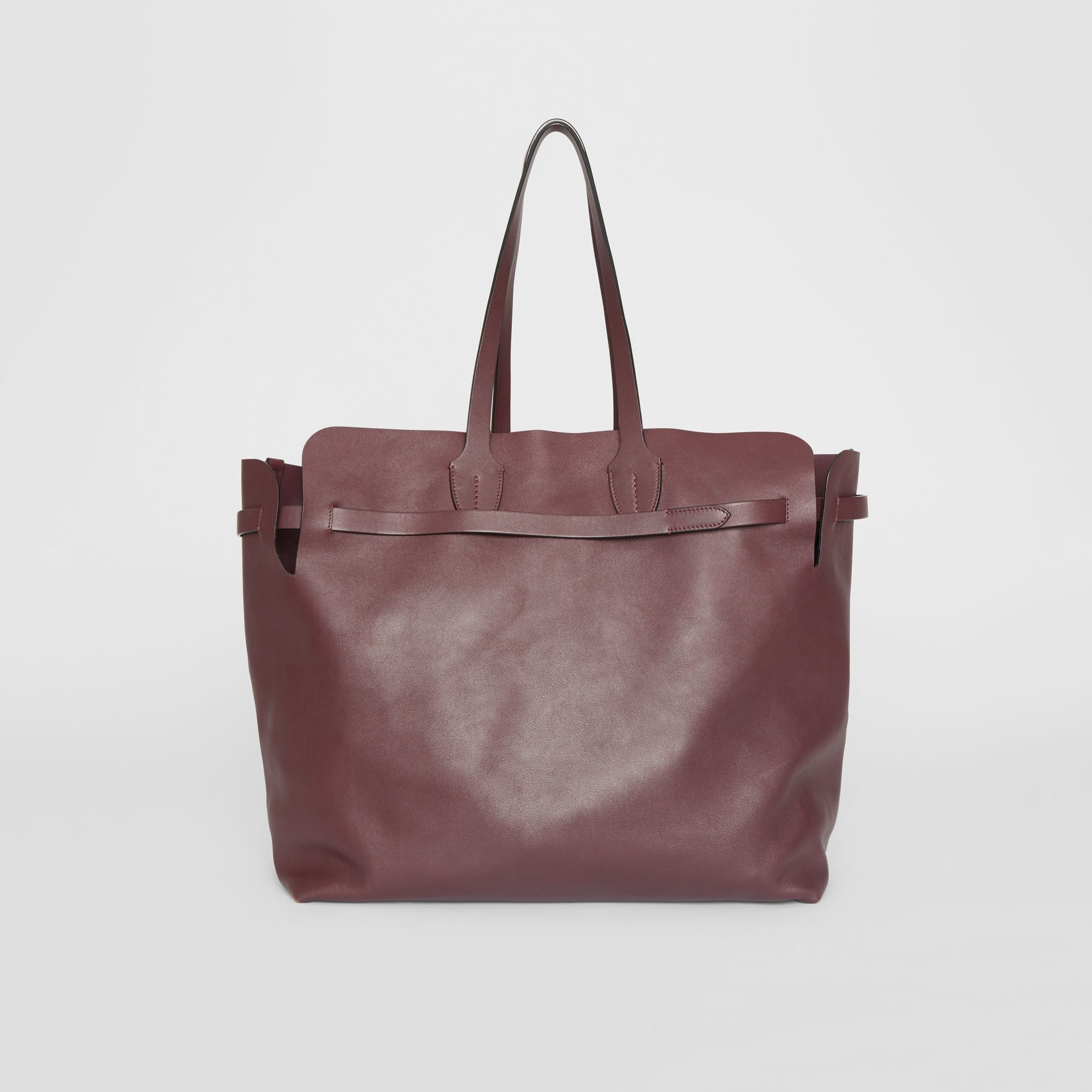 The Large Soft Leather Belt Bag in Deep Claret - Women | Burberry - gallery image 7