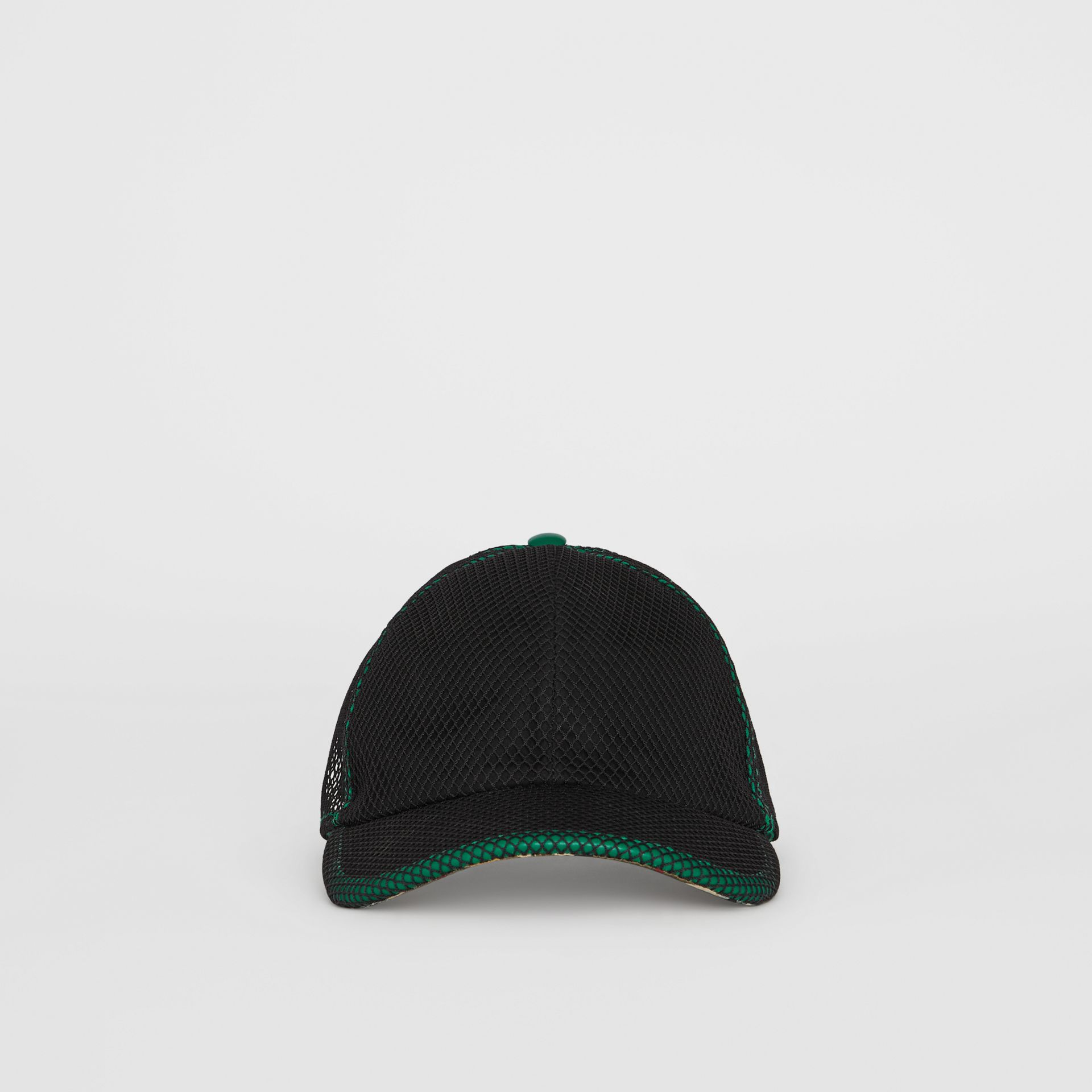 Vintage Check and Mesh Baseball Cap in Black | Burberry Canada - gallery image 6