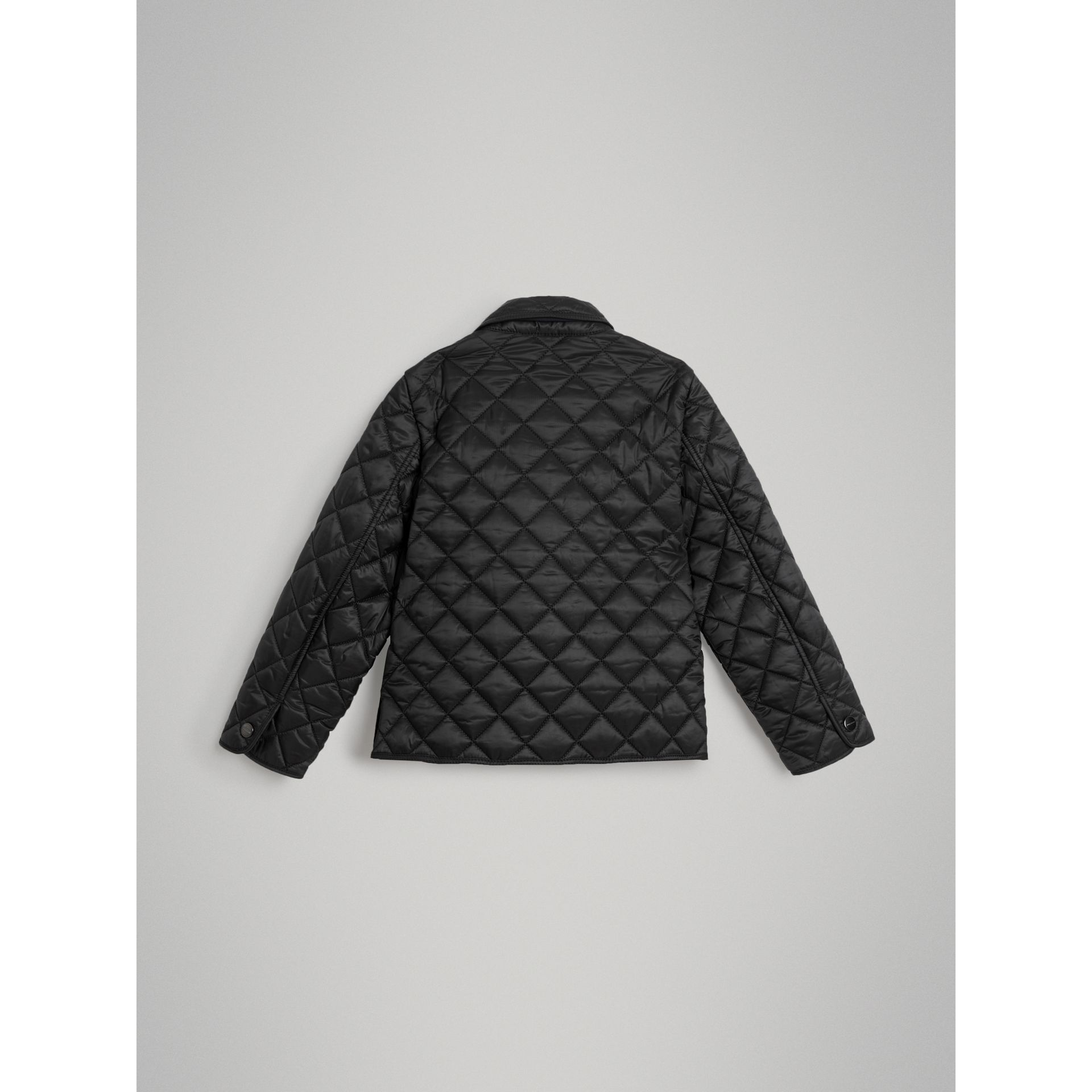 Lightweight Diamond Quilted Jacket in Black | Burberry - gallery image 3