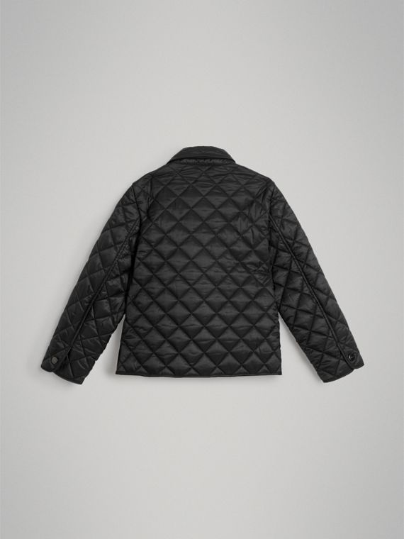 Lightweight Diamond Quilted Jacket in Black - Girl | Burberry - cell image 3