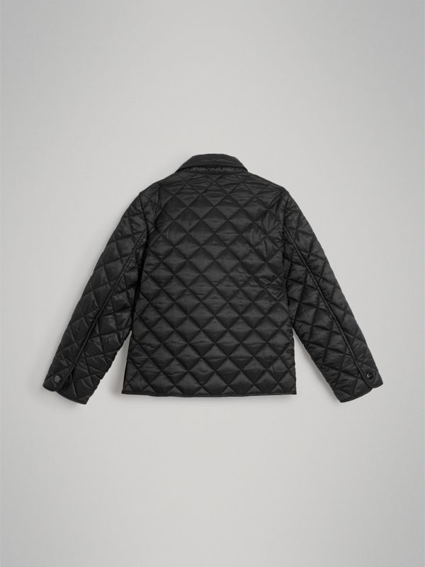 Lightweight Diamond Quilted Jacket in Black | Burberry - cell image 3