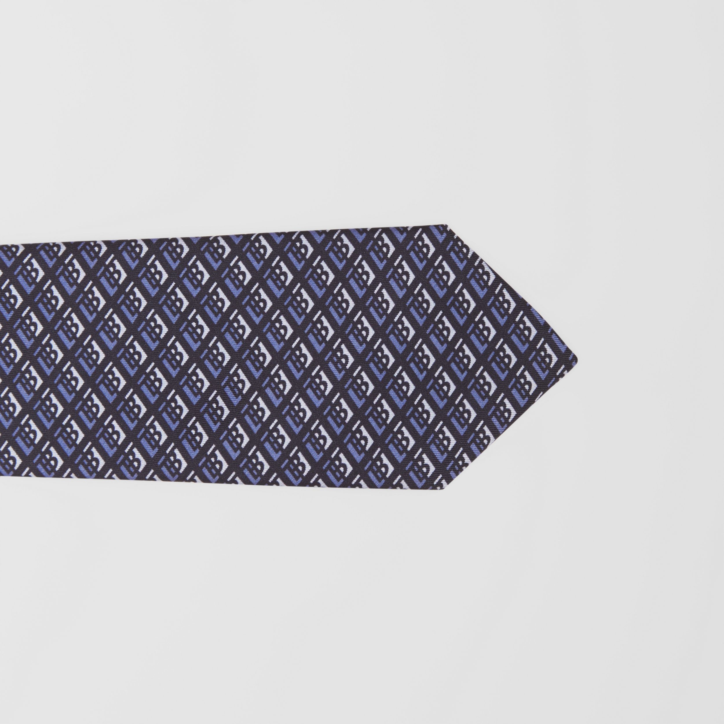 Classic Cut Logo Graphic Silk Tie in Pebble Blue - Men | Burberry - 2
