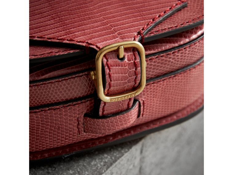 The Satchel in Lizard in Pink Azalea - Women | Burberry United Kingdom - cell image 1