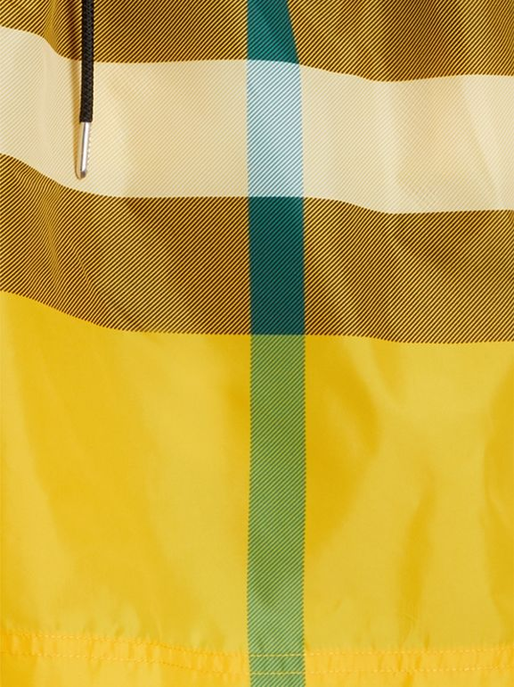 Check Drawcord Swim Shorts in Bright Yellow - Men | Burberry - cell image 1